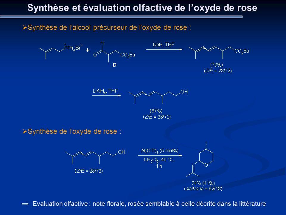Synthèse et évaluation olfactive de l'oxyde de rose