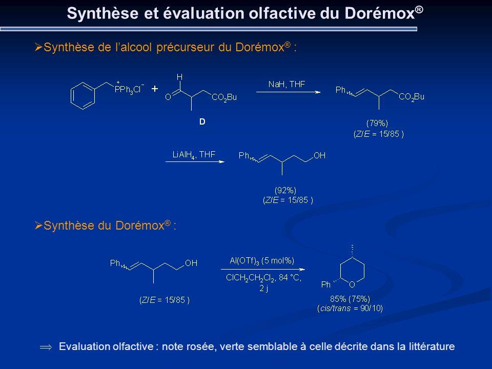 Synthèse et évaluation olfactive du Dorémox®