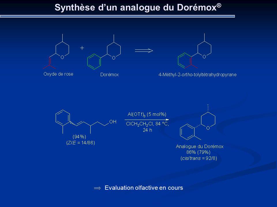 Synthèse d'un analogue du Dorémox®