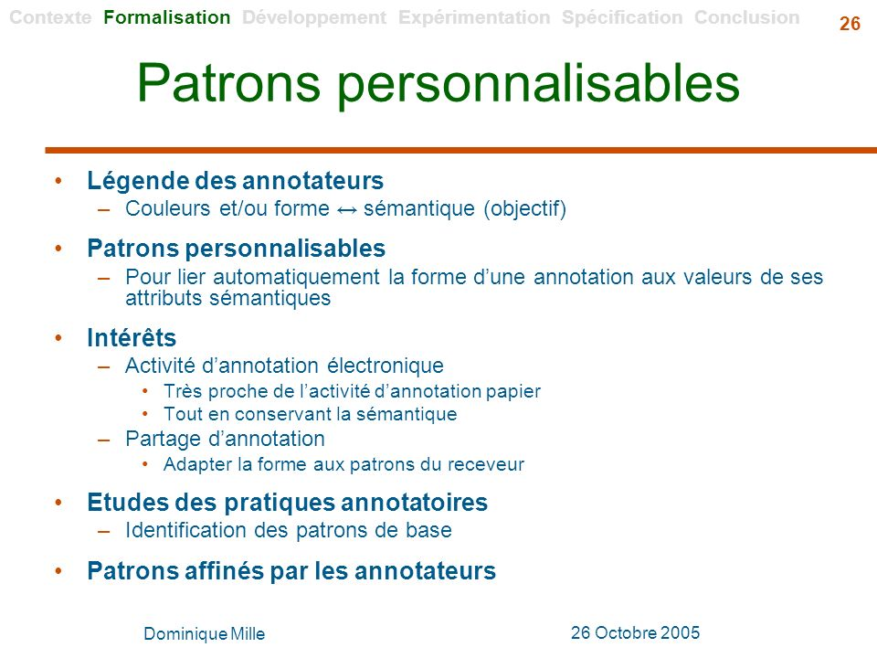 Patrons personnalisables