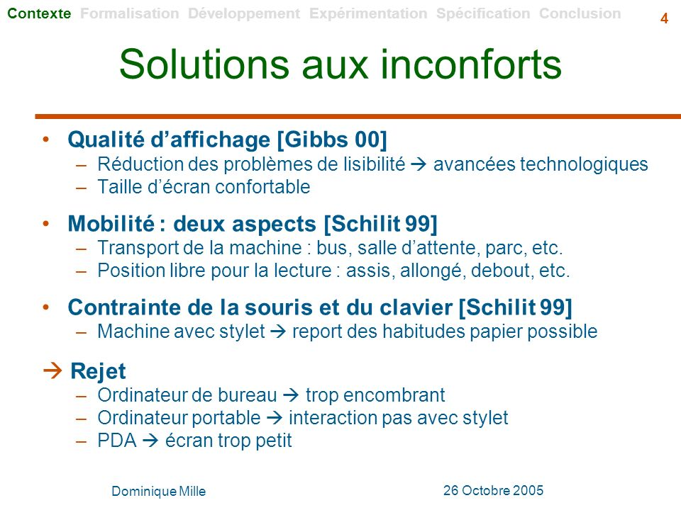 Solutions aux inconforts