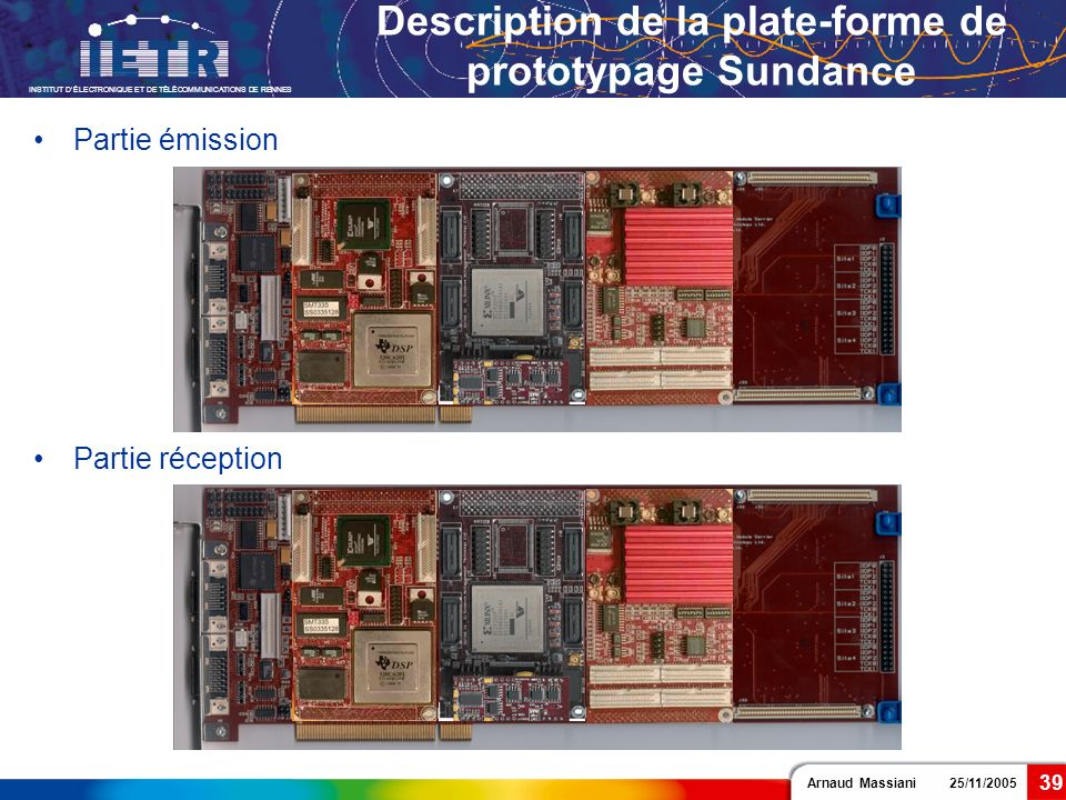 Description de la plate-forme de prototypage Sundance