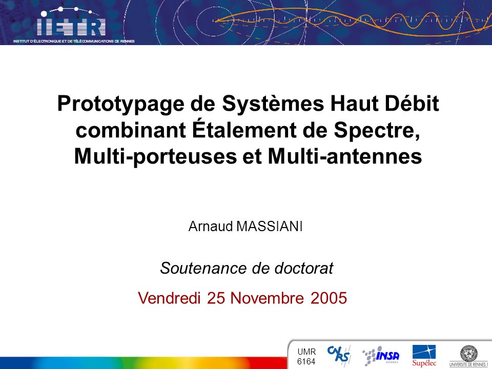 Arnaud MASSIANI Soutenance de doctorat