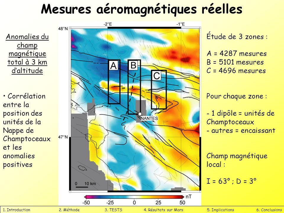 Anomalies du champ magnétique total à 3 km d'altitude