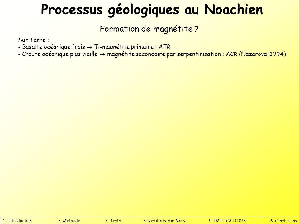Processus géologiques au Noachien