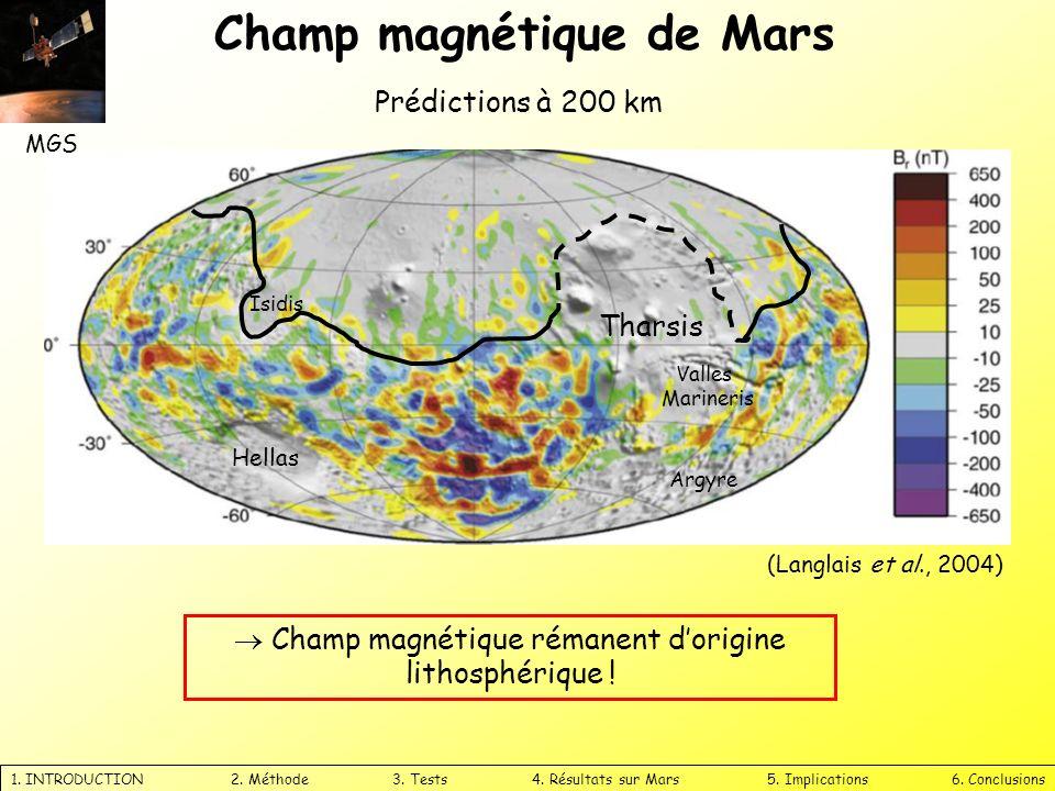  Champ magnétique rémanent d'origine lithosphérique !