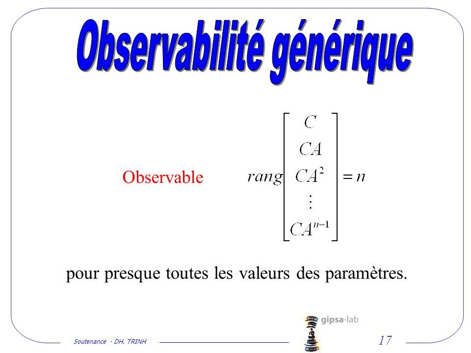 Observabilité générique
