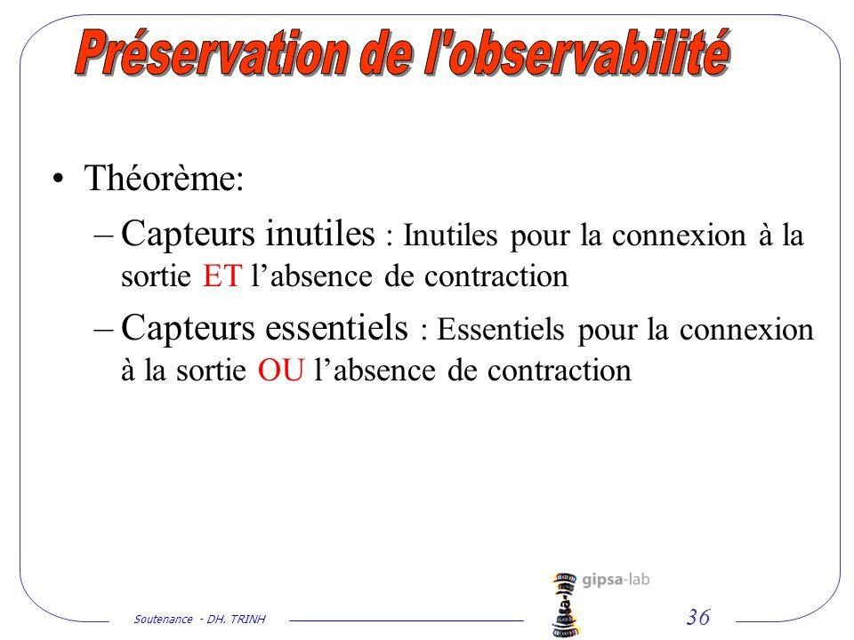 Préservation de l observabilité