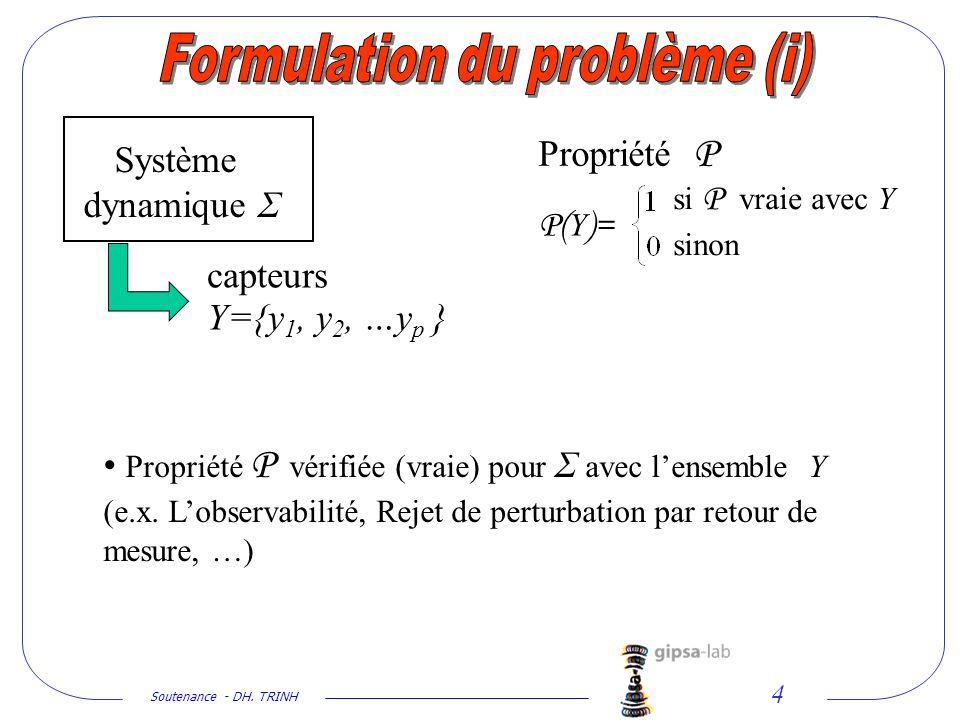 Formulation du problème (i)