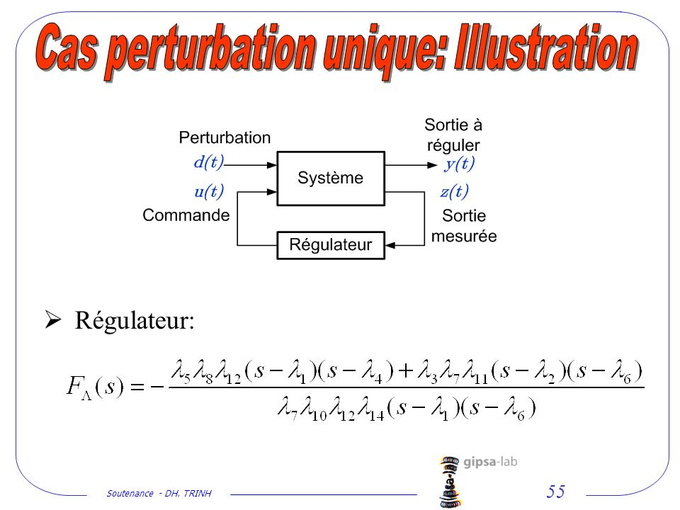 Cas perturbation unique: Illustration