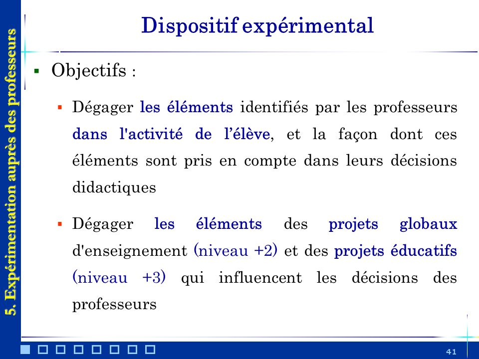 Dispositif expérimental
