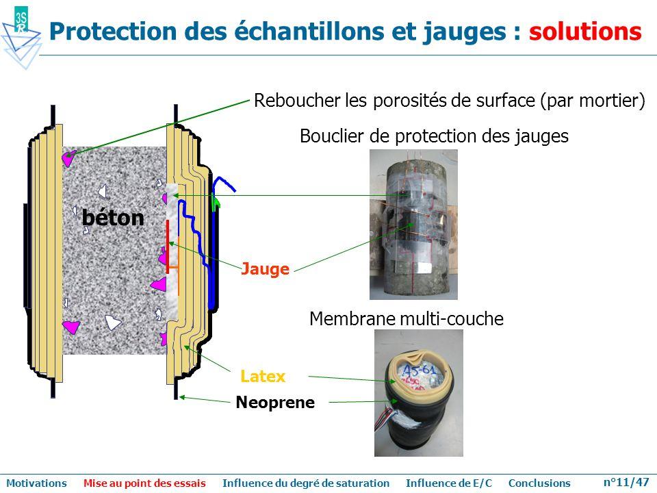 Protection des échantillons et jauges : solutions