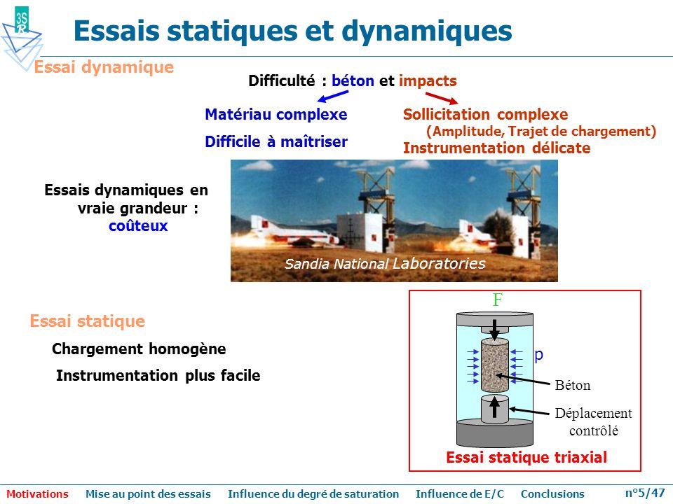 Essais statiques et dynamiques
