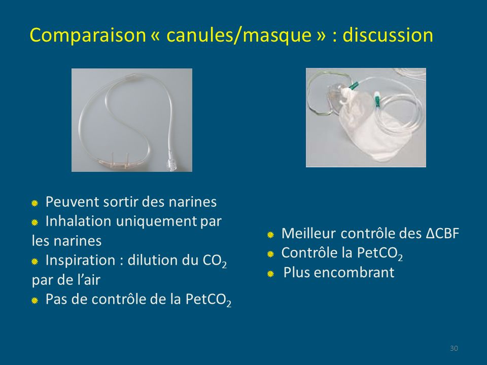 Comparaison « canules/masque » : discussion