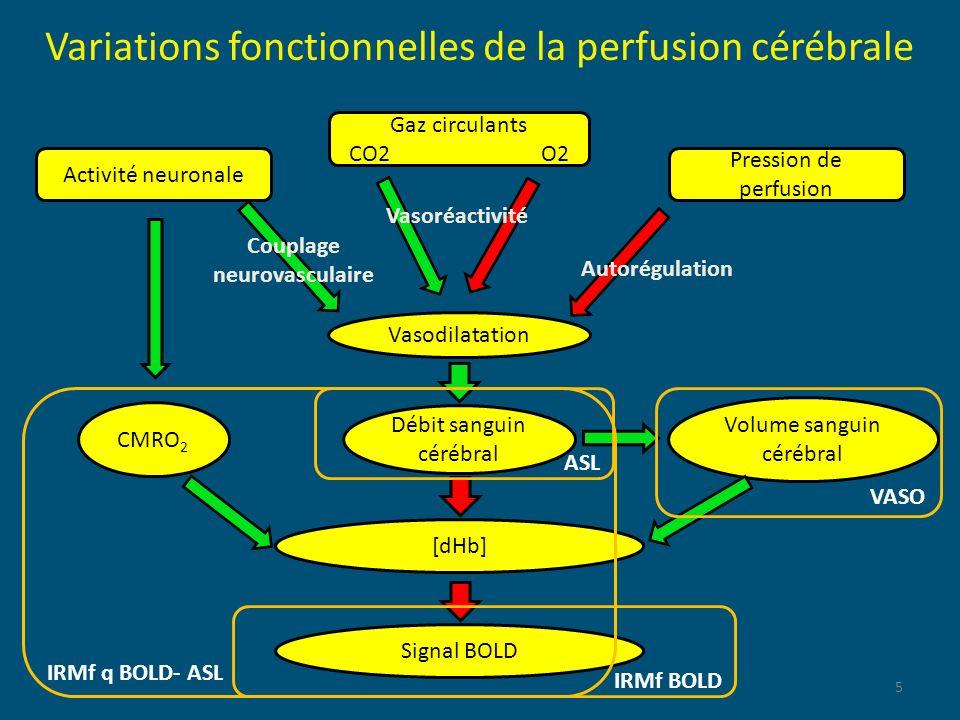 Variations fonctionnelles de la perfusion cérébrale
