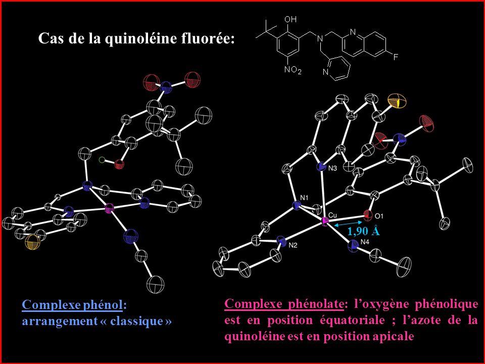 Cas de la quinoléine fluorée:
