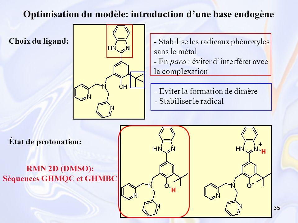 Optimisation du modèle: introduction d'une base endogène