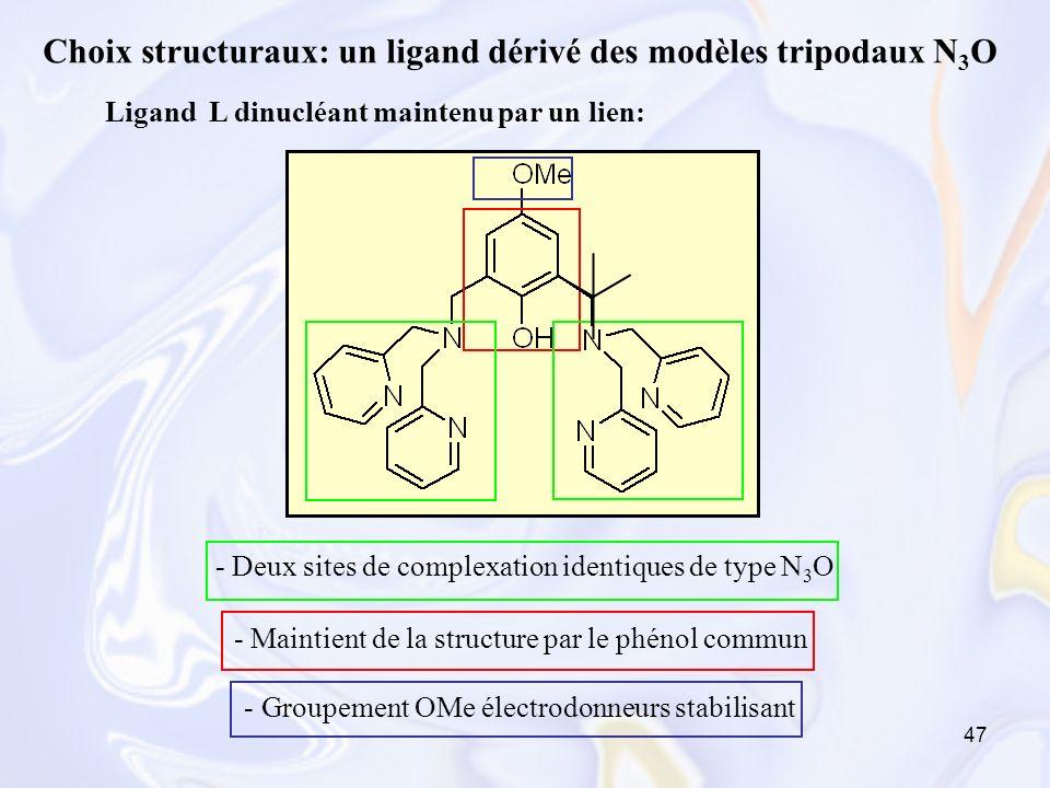 Ligand L dinucléant maintenu par un lien: