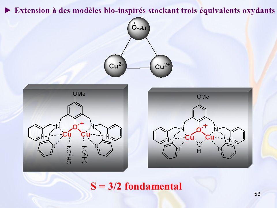 ► Extension à des modèles bio-inspirés stockant trois équivalents oxydants