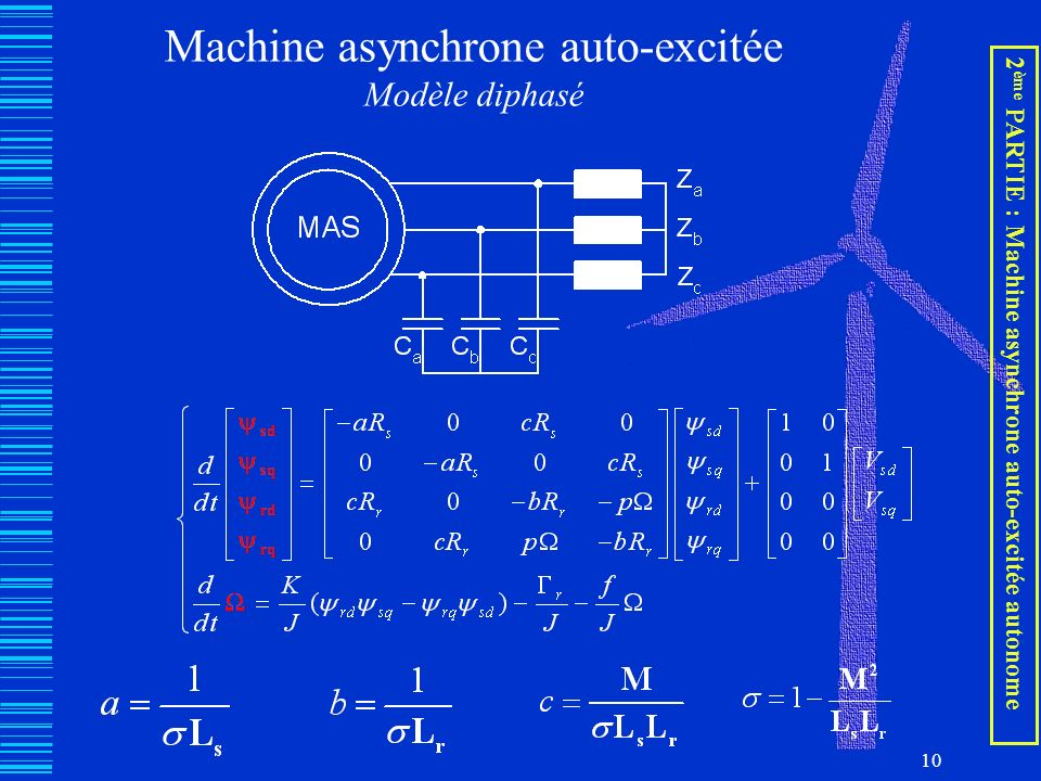 Machine asynchrone auto-excitée