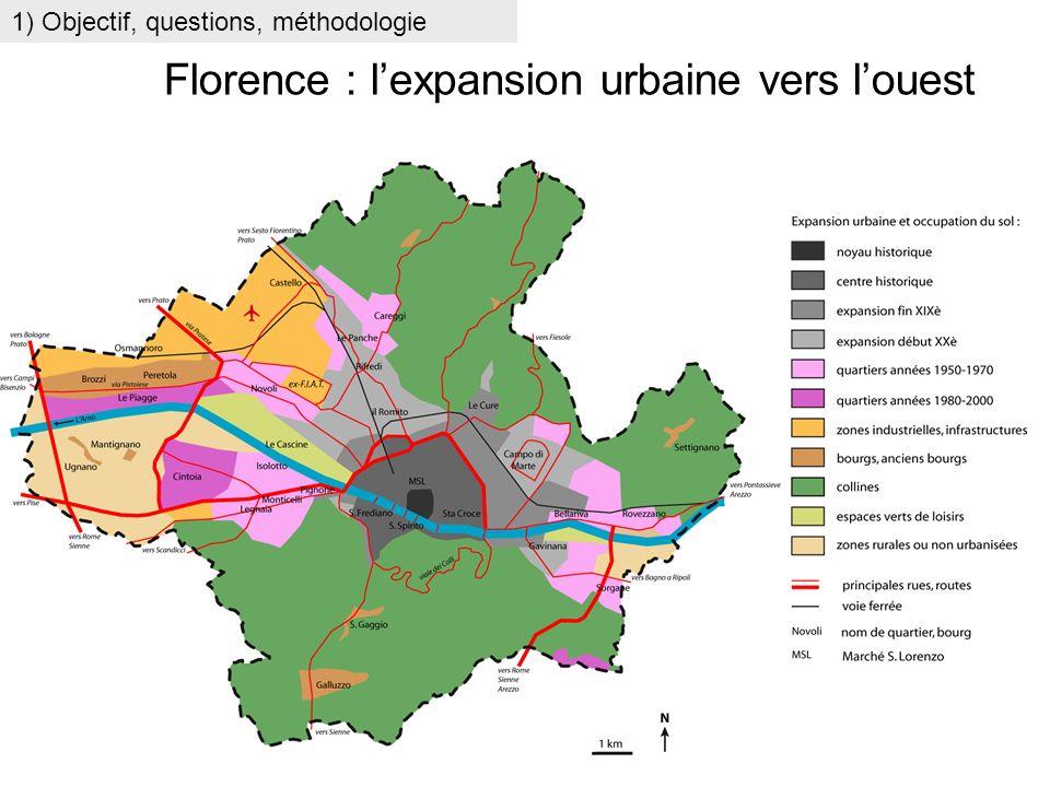 Florence : l'expansion urbaine vers l'ouest
