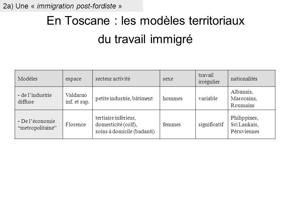 En Toscane : les modèles territoriaux du travail immigré