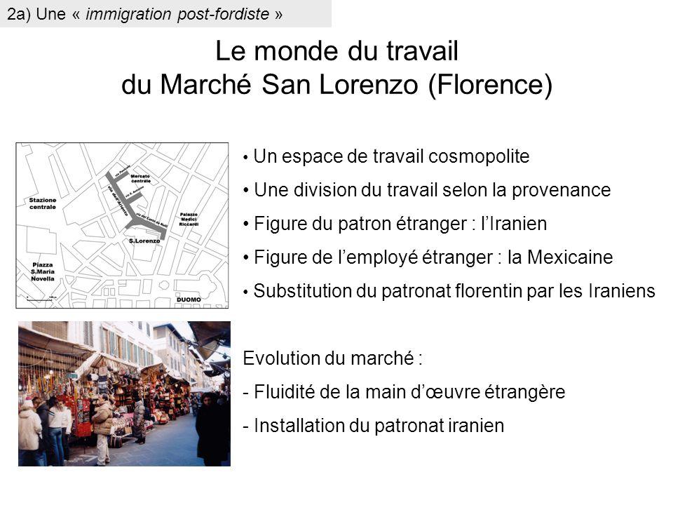 Le monde du travail du Marché San Lorenzo (Florence)