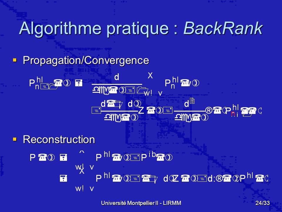 Algorithme pratique : BackRank
