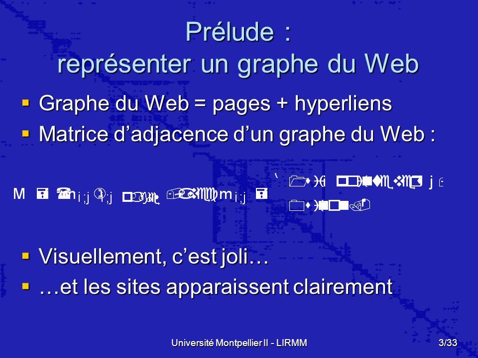 Prélude : représenter un graphe du Web