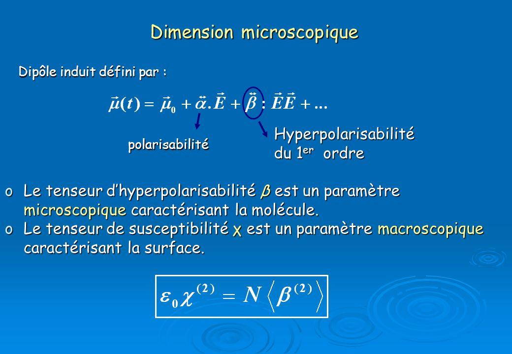 Dimension microscopique