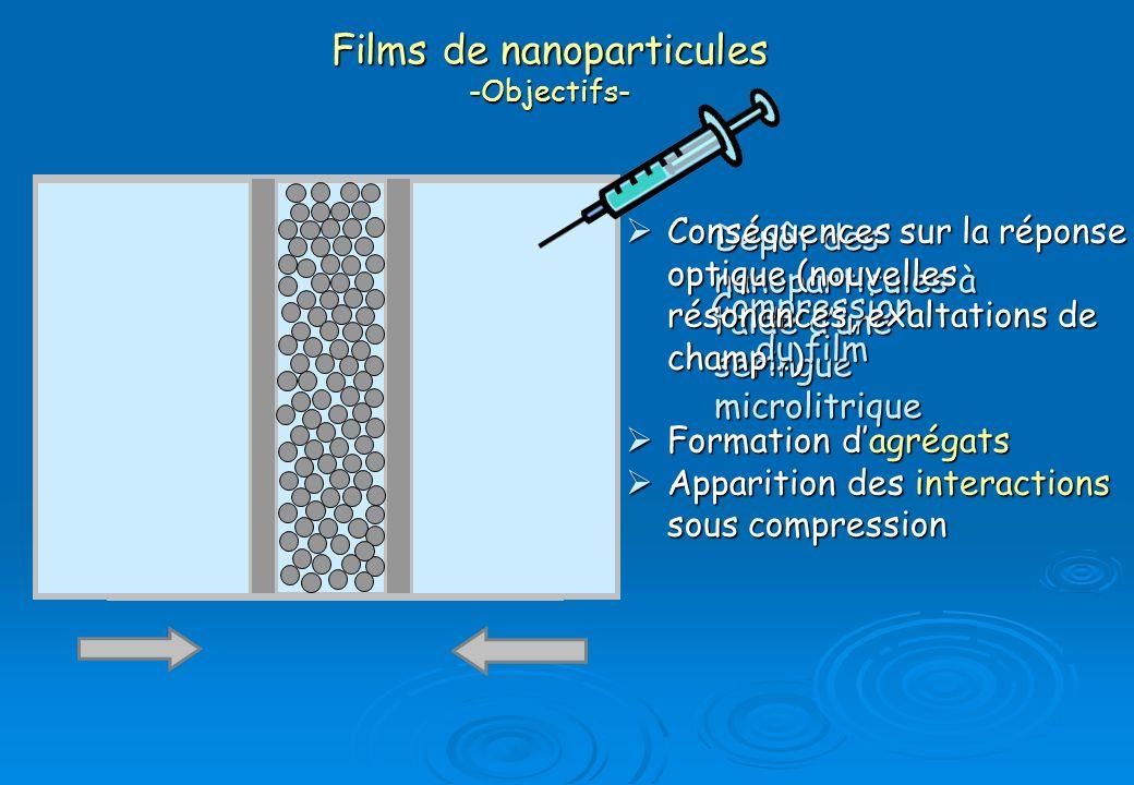 Films de nanoparticules -Objectifs-