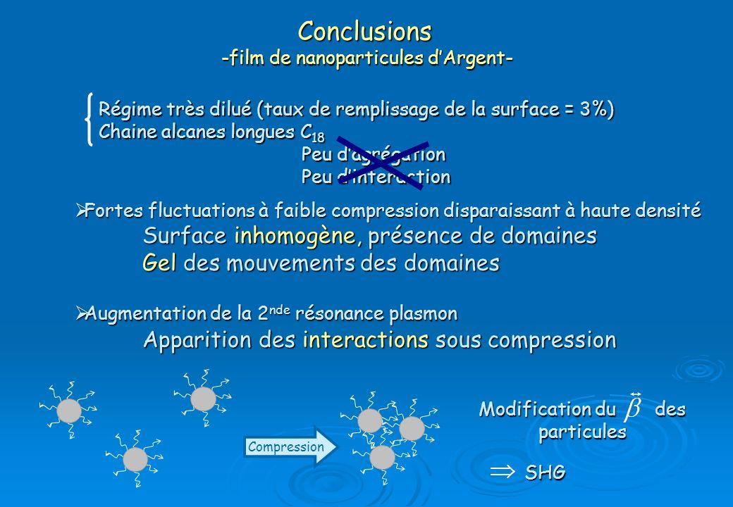 Conclusions -film de nanoparticules d'Argent-
