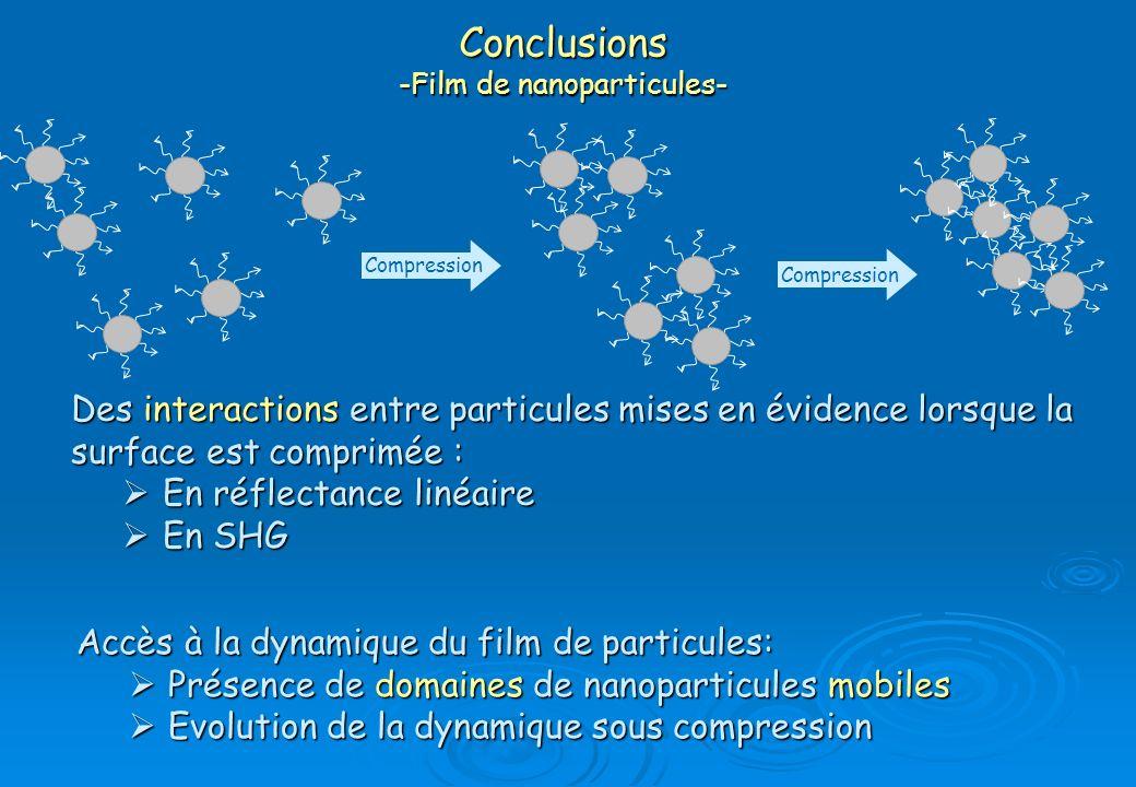 Conclusions -Film de nanoparticules-