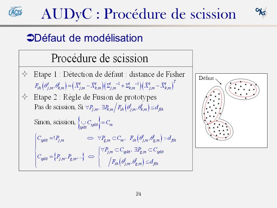 AUDyC : Procédure de scission
