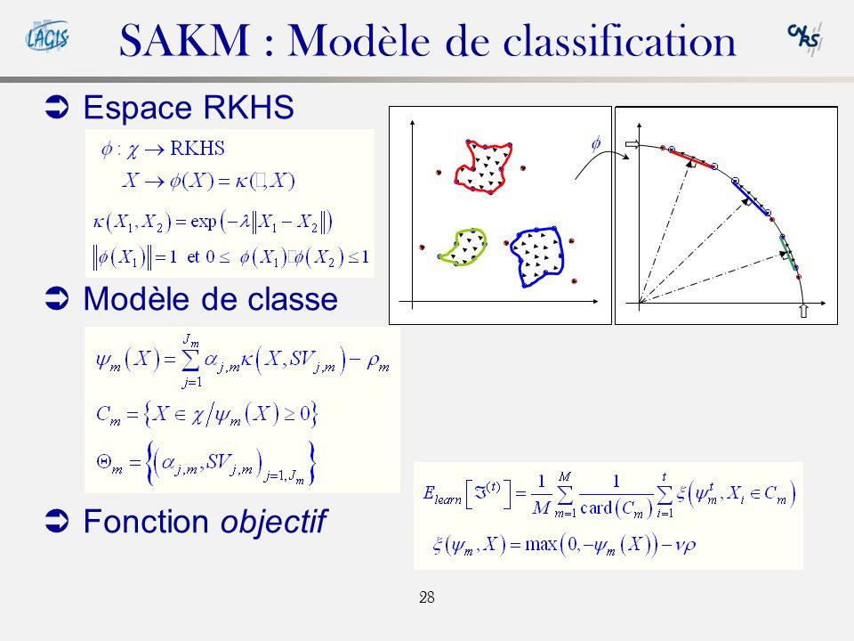 SAKM : Modèle de classification