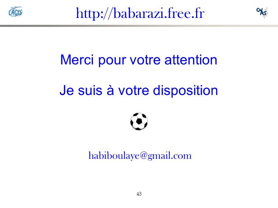 http://babarazi.free.fr Merci pour votre attention