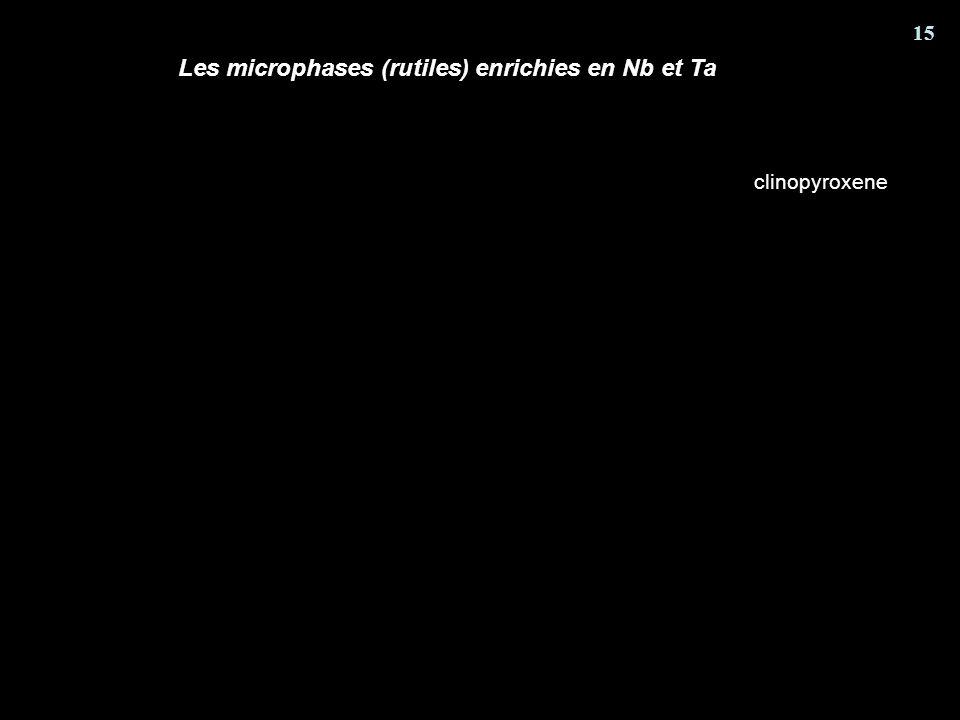 Les microphases (rutiles) enrichies en Nb et Ta