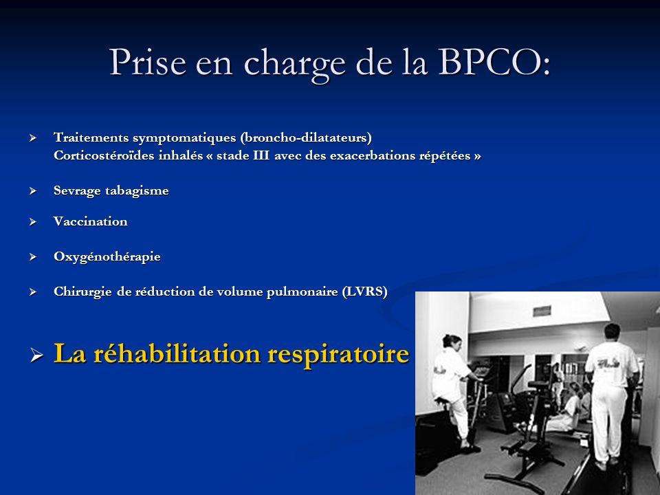 Prise en charge de la BPCO: