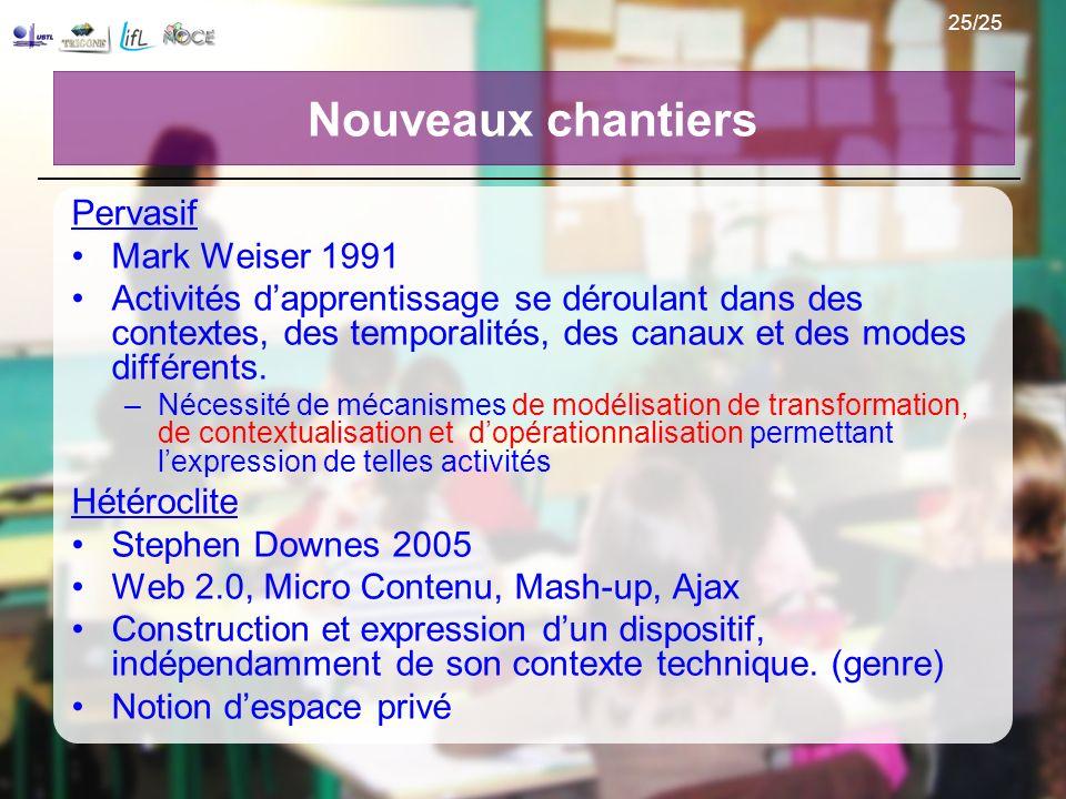 Nouveaux chantiers Pervasif Mark Weiser 1991