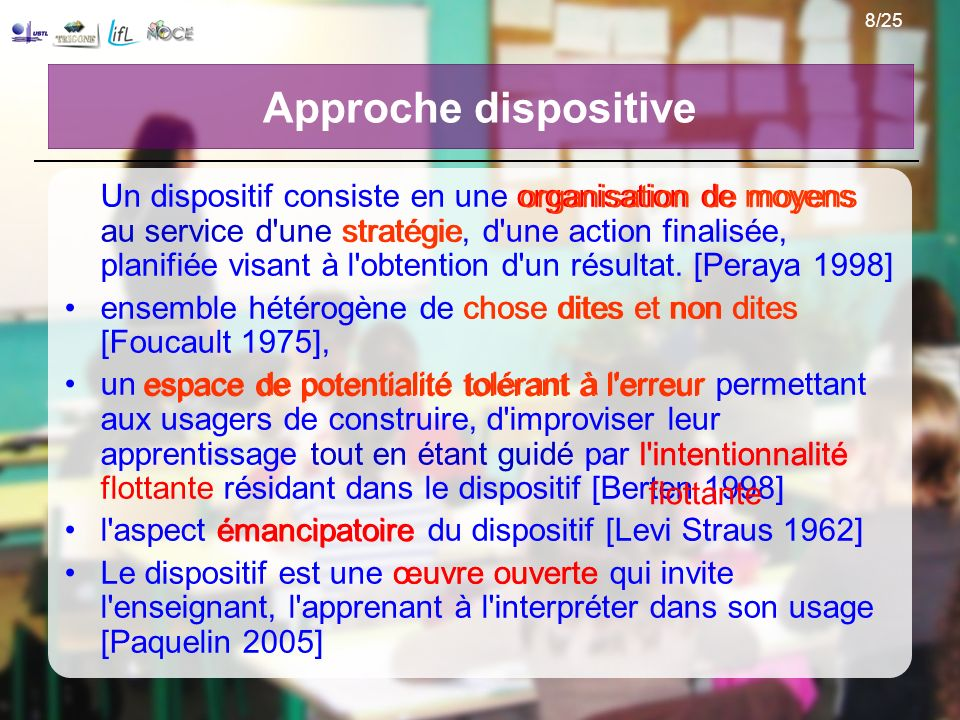 Approche dispositive