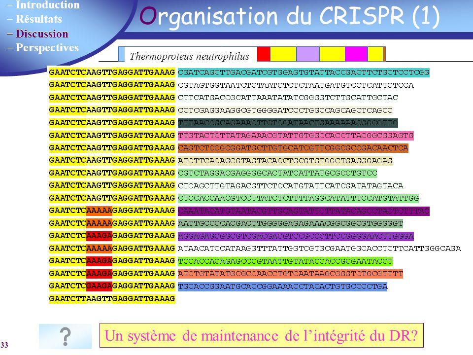 Organisation du CRISPR (1)