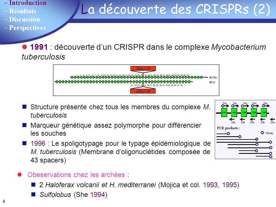 La découverte des CRISPRs (2)