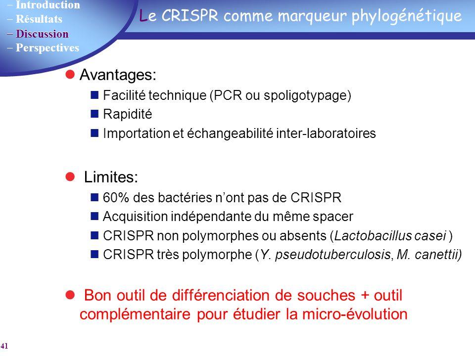 Le CRISPR comme marqueur phylogénétique