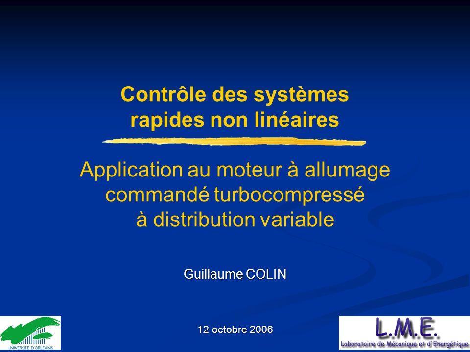 Contrôle des systèmes rapides non linéaires Application au moteur à allumage commandé turbocompressé à distribution variable