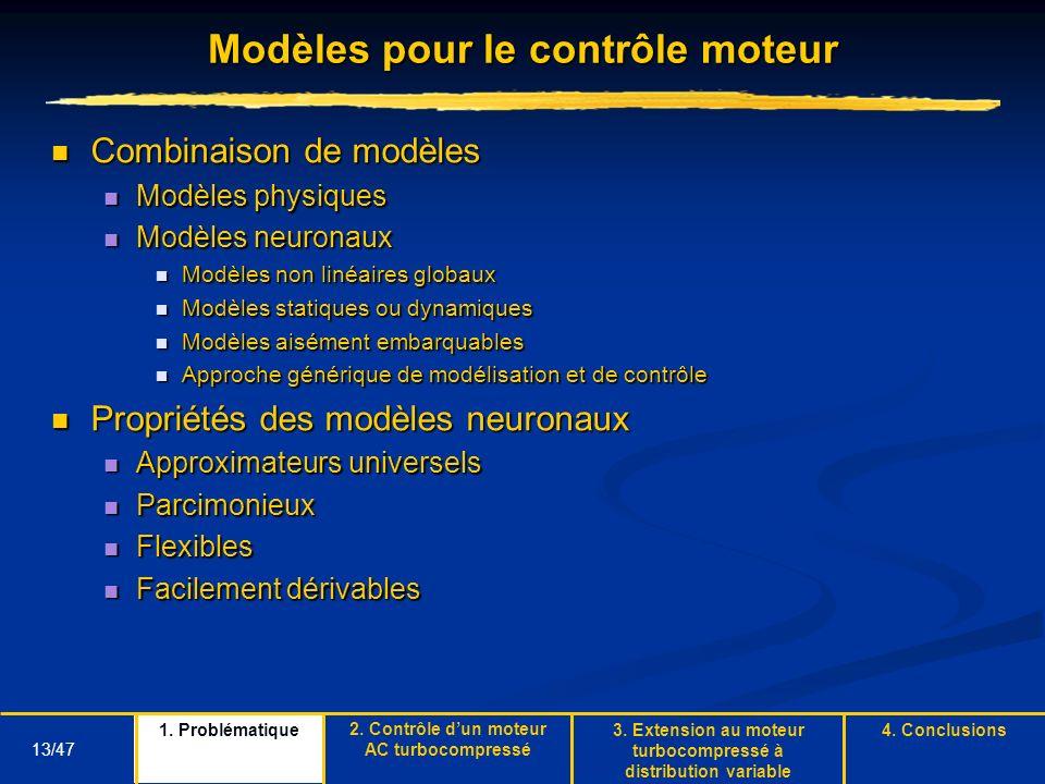 Modèles pour le contrôle moteur