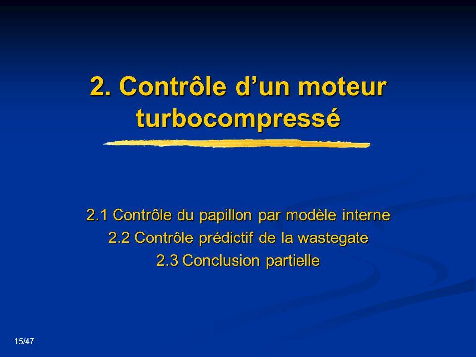 2. Contrôle d'un moteur turbocompressé