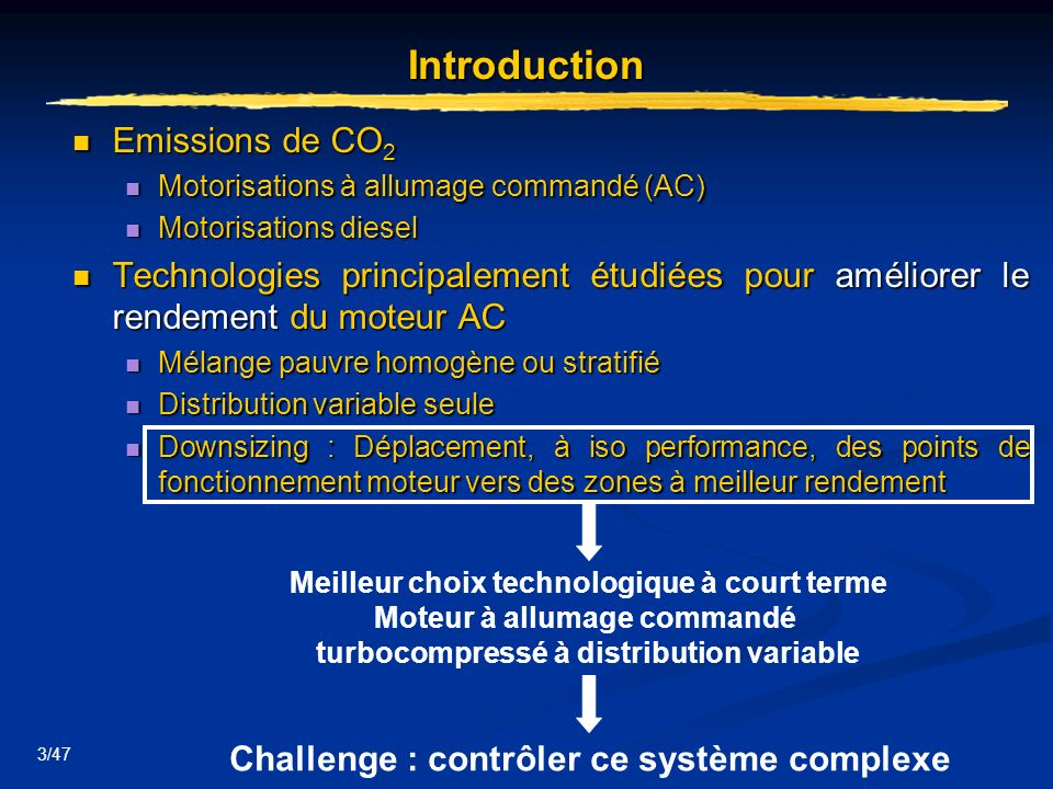 Introduction Emissions de CO2