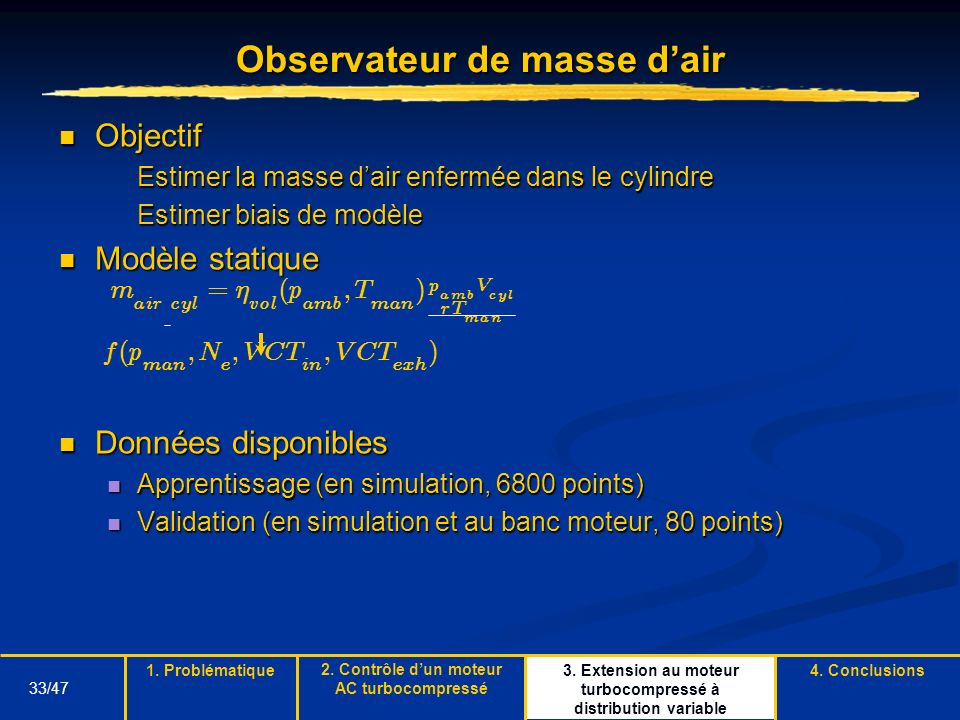 Observateur de masse d'air