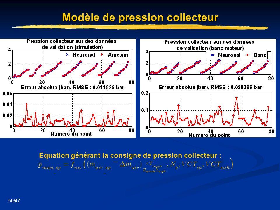 Modèle de pression collecteur