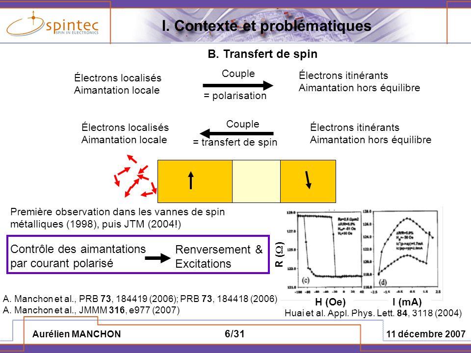 I. Contexte et problématiques
